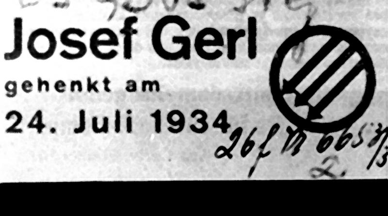 Todesanzeige von Josef Gerl, 1934