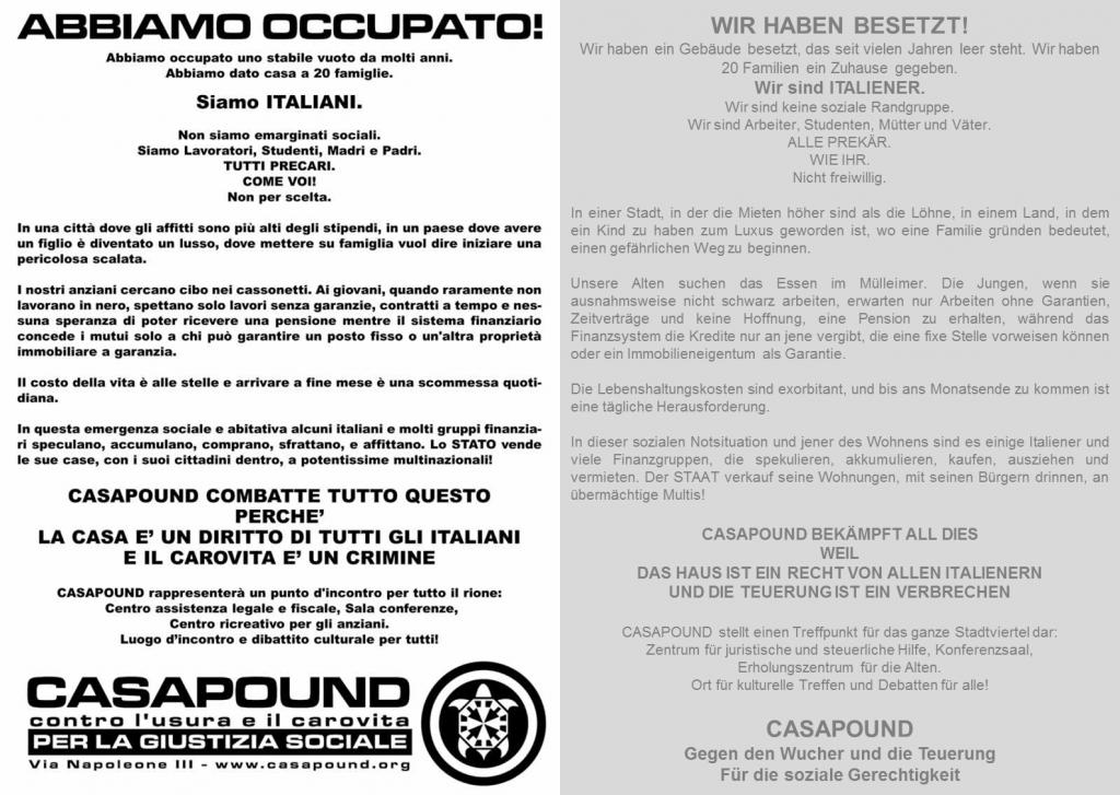 CasaPound_volantino_Flugblatt_2003