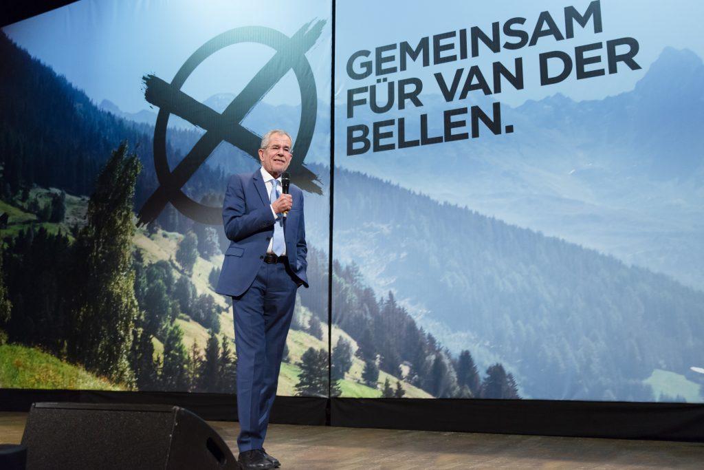Stimmen für Van der Bellen