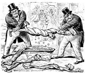 Karikatur_Das_Verhältnis_Arbeiter_Unternehmer