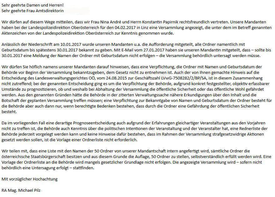 Anwaltsschreiben_Linz - Unsere Zeitung