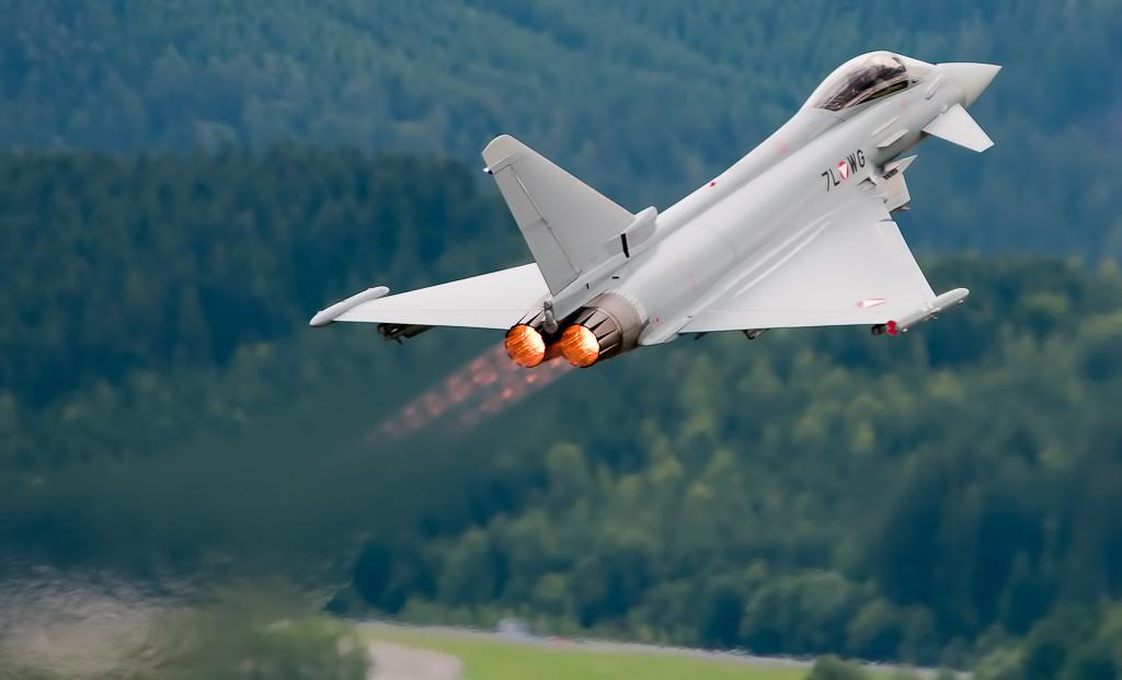 Eurofighter in Zeltweg, 2011 (Foto: Marek Olszewski; Lizenz: CC BY-SA 3.0)