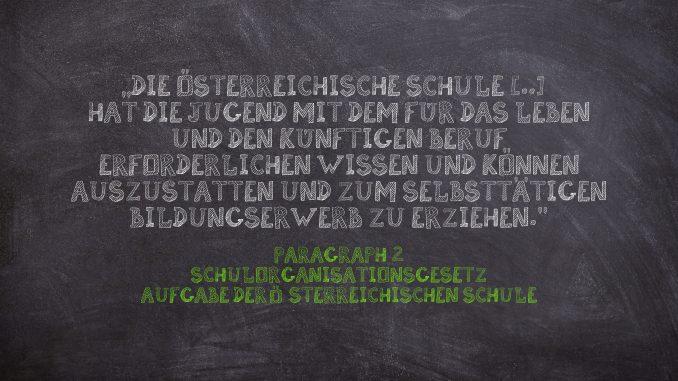 Die Aufgabe der österreichischen Schule