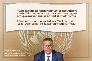 Dr. Tedros Adhanom Ghebreyesus am 22. Juni am Virtual Health Forum des World Government Summit