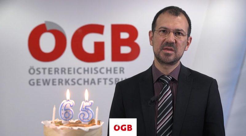 Thomas Roithner bei seiner Rede im ÖGB
