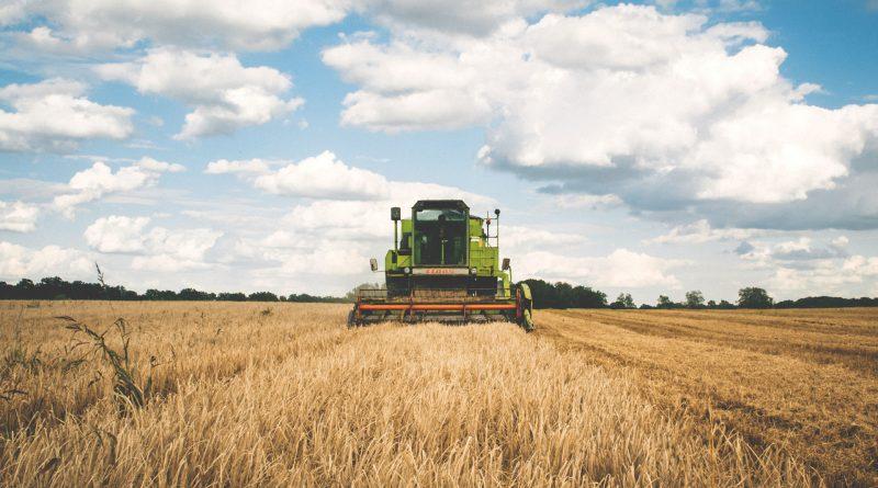 Landwirtschaftliches Gerät auf Acker