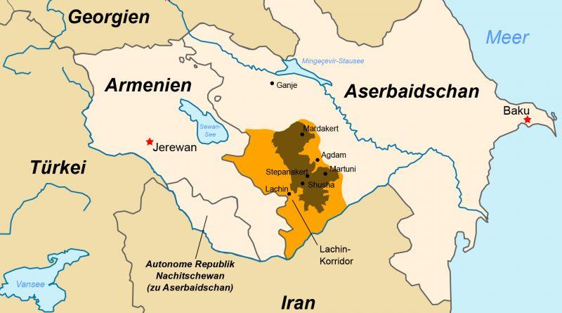 Karte von Bergkarabach