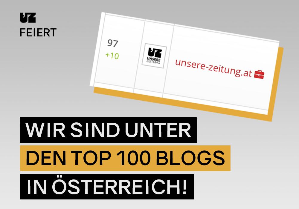 Wir sind unter den besten 100 Blogs in Österreich!