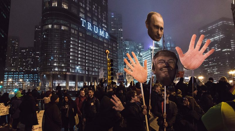 Menschenmenge vor dem Trump-Tower
