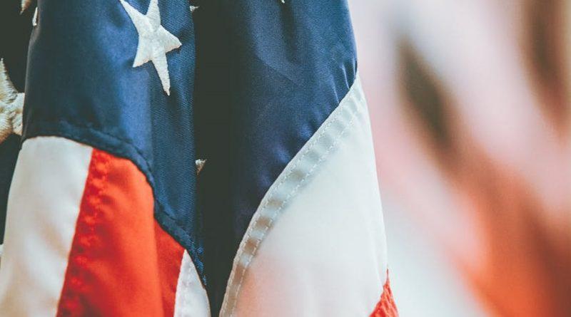 Flagge der USA (Detailaufnahme)