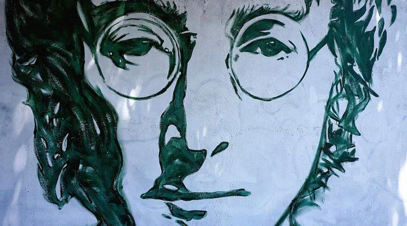 Der Kopf von John Lennon als Zeichnung