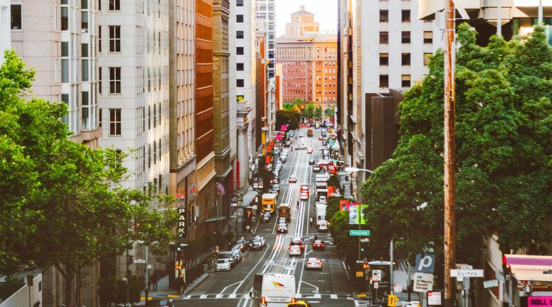 Verkehr in den Straßen von San Francisco