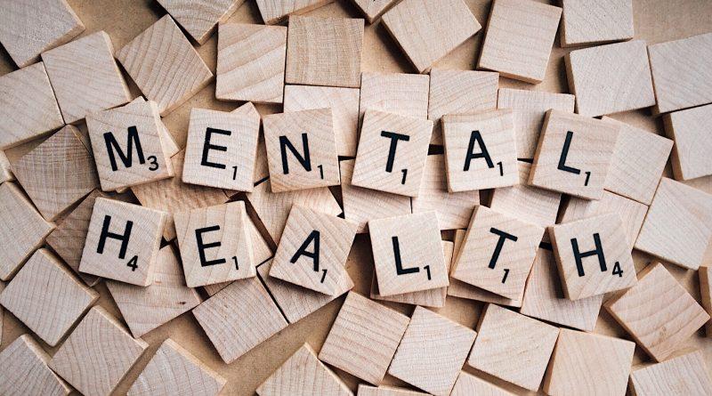 Mental Health aus Scrabble Buchstaben