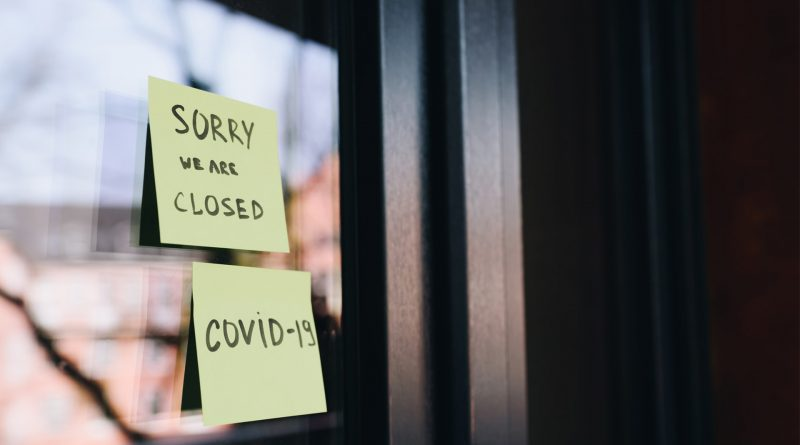 Zettel: Sorry, we are closed, Covid-19