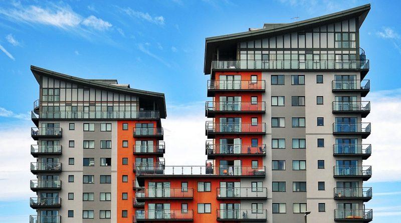 Hochhaus mit Wohnungen