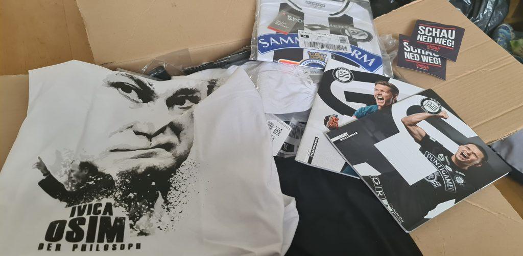 Sturm Graz spendete u.a. Trikots und Merchandise