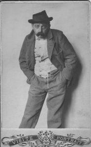 """Max Winter, verkleidet als Obdachloser, 1902 in der """"Wiener Arbeiterzeitung"""""""