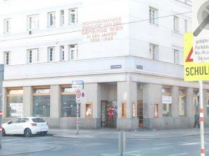 Das Notquartier in der Gudrunstraße