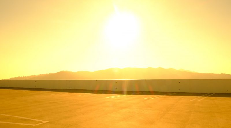 Sonne, heiß, gelbes Bild
