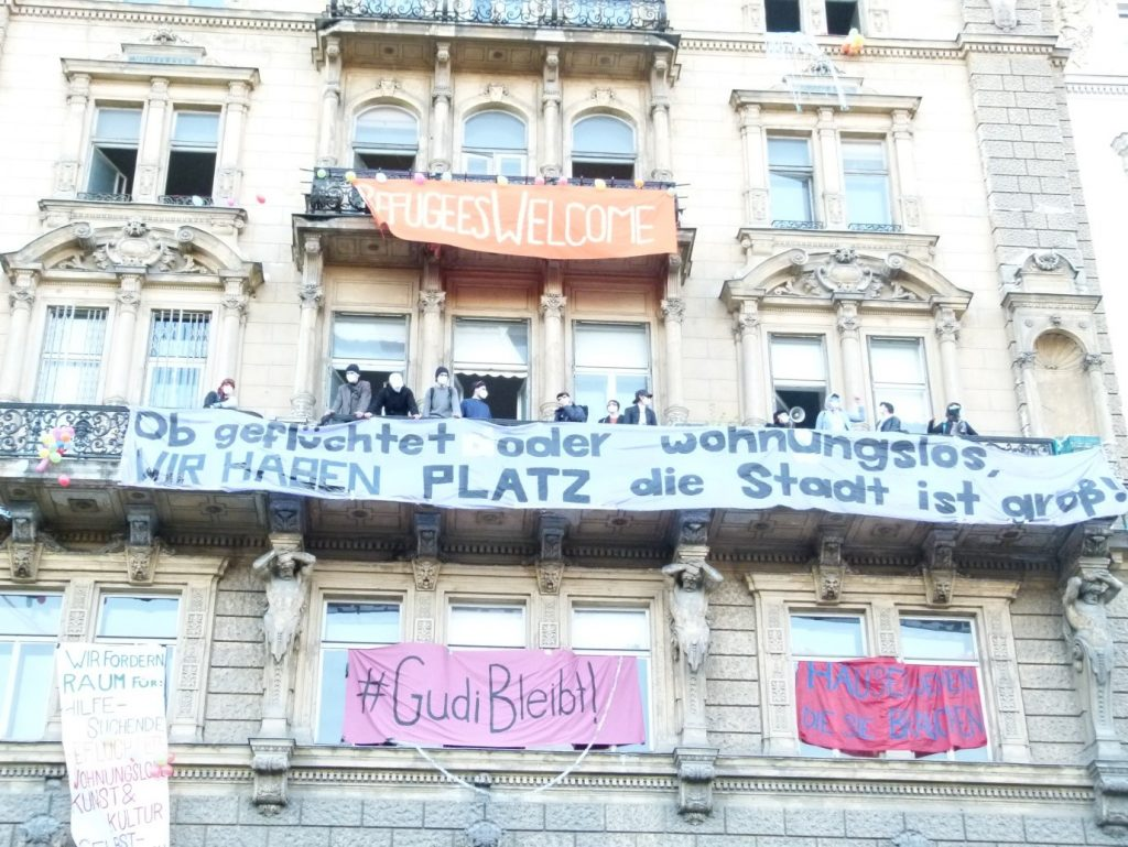 Kurzzeitig besetztes Haus Rathausplatz 3