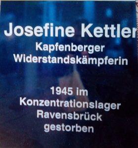 Tafel: Josefine Kettler, Kapfenberger Widerstandskämpferin