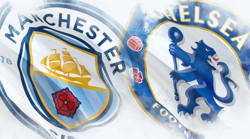Logos von Manchester City und Chelsea