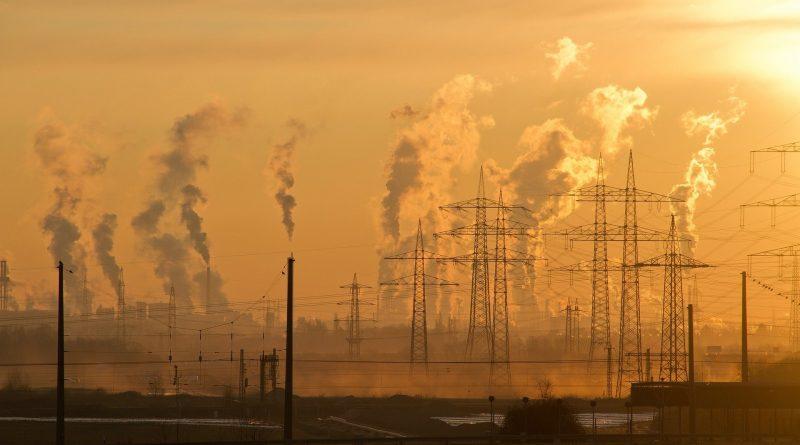 Industrie, Rauch, Strommasten