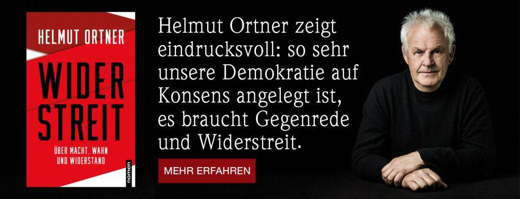 """Im Mai 2021 erschien Helmut Ortners neues Buch """"Widerstreit - Über Macht, Wahn und Widerstand"""" im Nomen Verlag."""