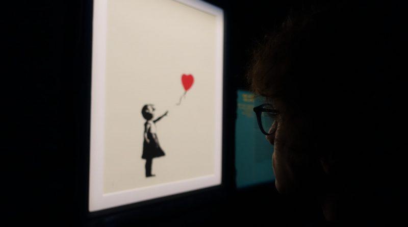 """""""Mädchen mit Luftballon"""" - Bild von Banksy"""