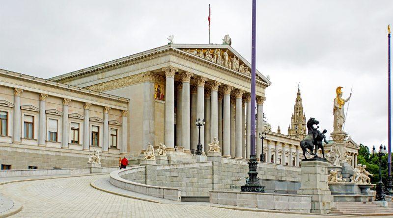 Das Parlament in Wien, Außenansicht